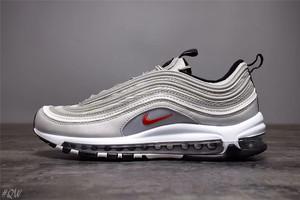 大黑鞋社#QW 权威实拍 原装 Nike Air Max 97 系列 银子弹头 全灰3M反光